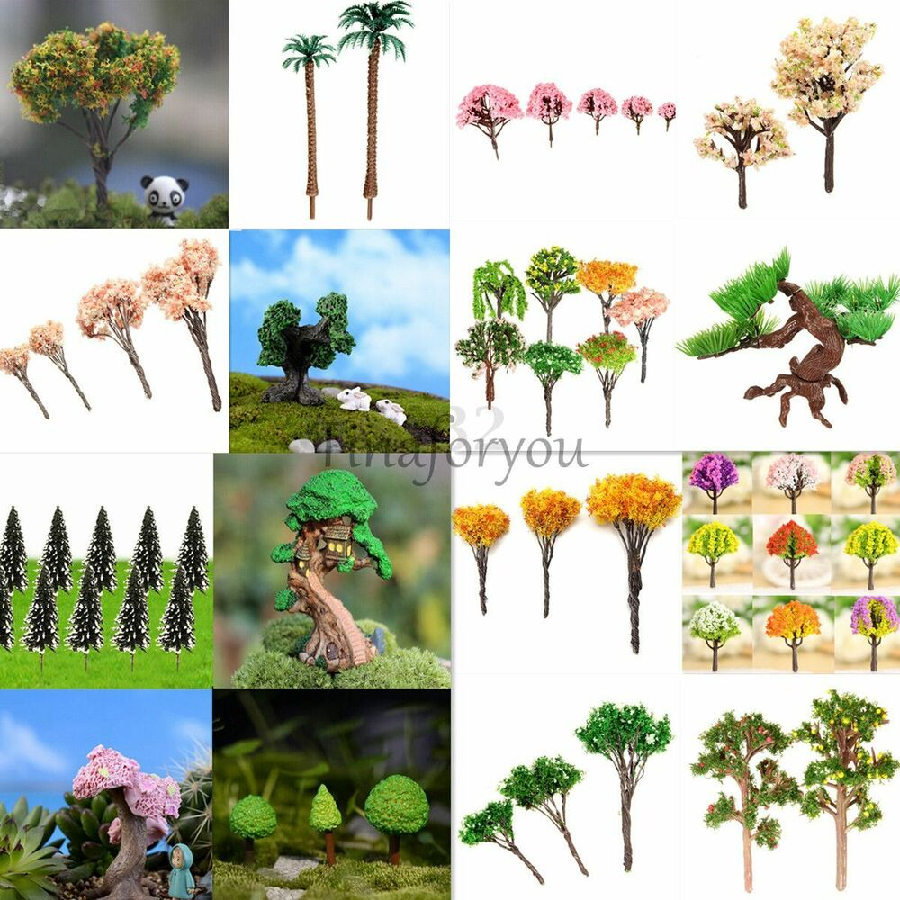 Diy fairy dollhouse garden accessories miniature tree for Tree decorations for garden