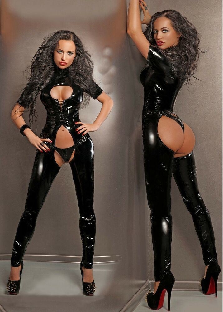 Latex sexy leather lingerie something