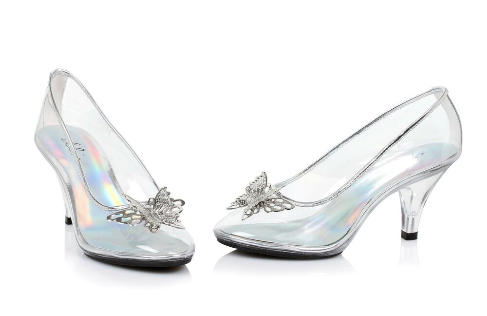 clear glass slippers cinderella costume shoes wedding princess bridal heels 8 9 ebay