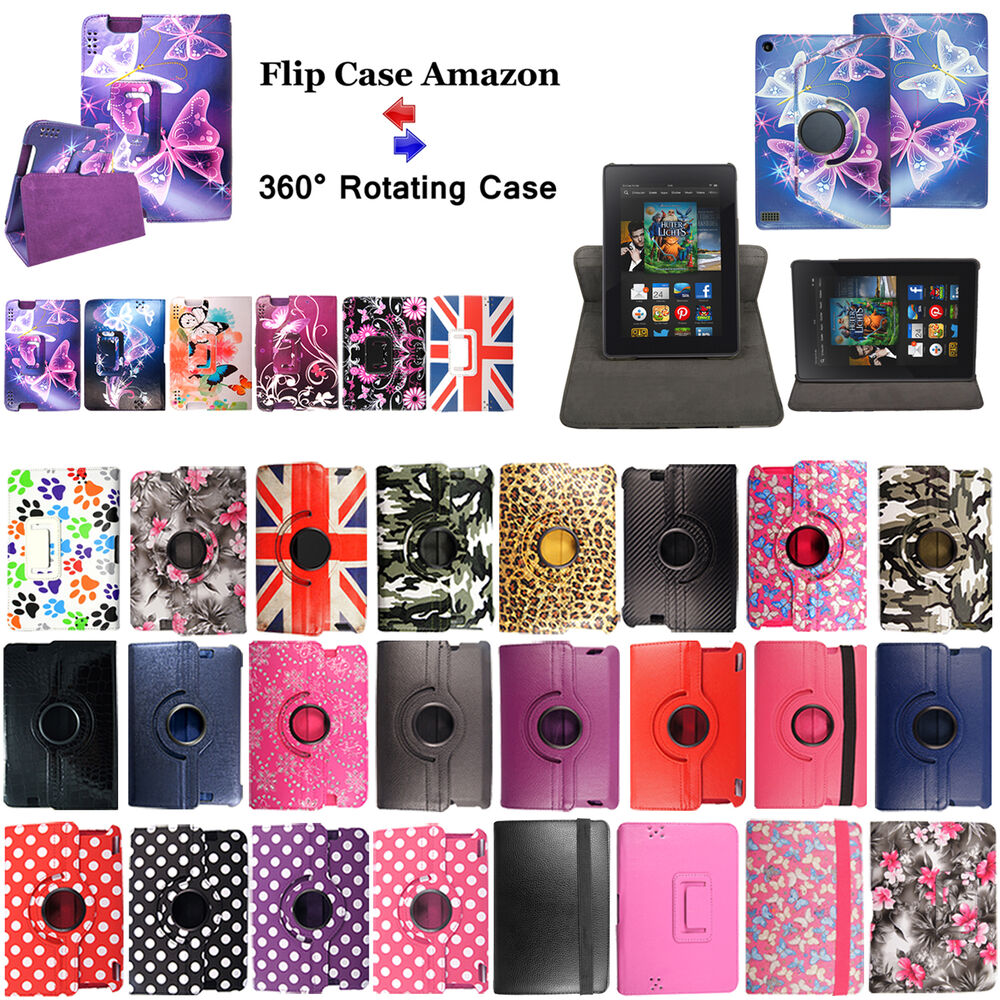 Folio leather stand case cover for amazon kindle fire 7 for Amazon casa