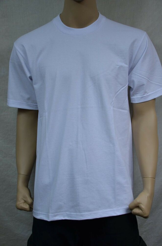 c5fa0f45 Details about 3 NEW PRO5 SUPER HEAVY WEIGHT T-SHIRT WHITE TEE PLAIN BLANK  COTTON LT TALL 3PC