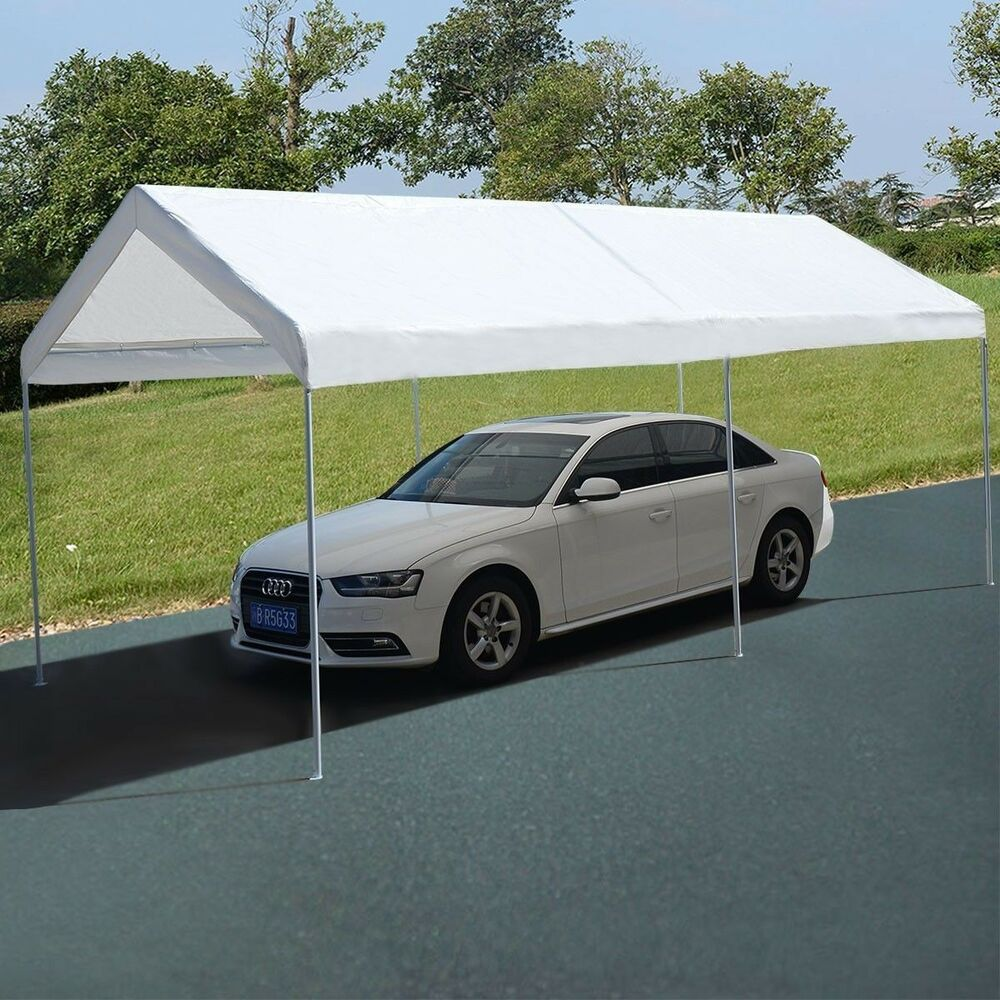 Metal Car Canopies : Steel frame canopy shelter portable car carport