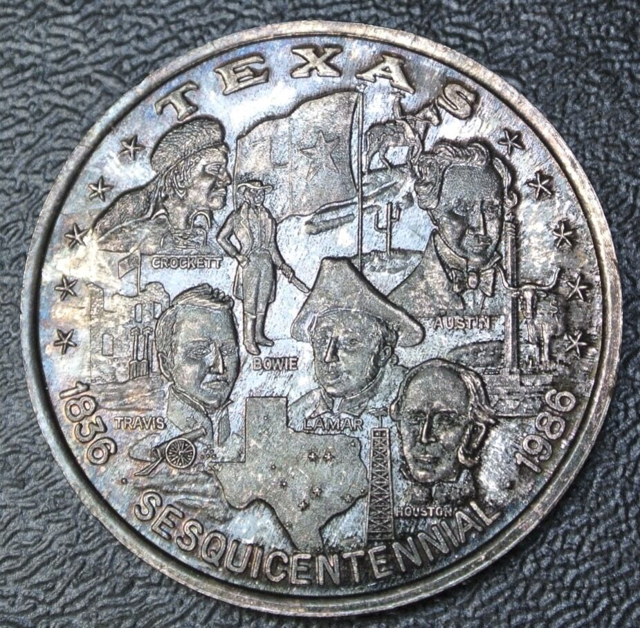 1986 Texas Sesquicentennial 999 Fine Silver One Troy