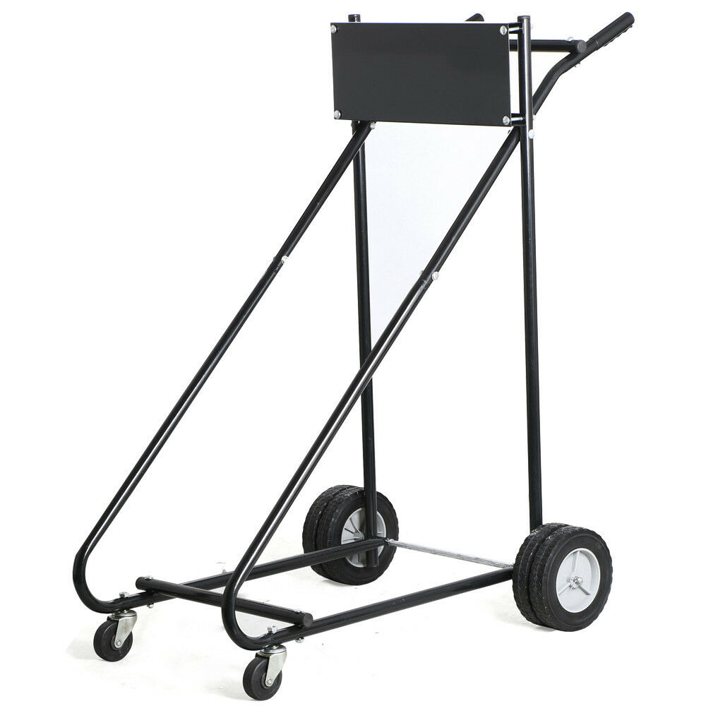 Outboard Boat Motor Trolling Stand Carrier Cart Dolly