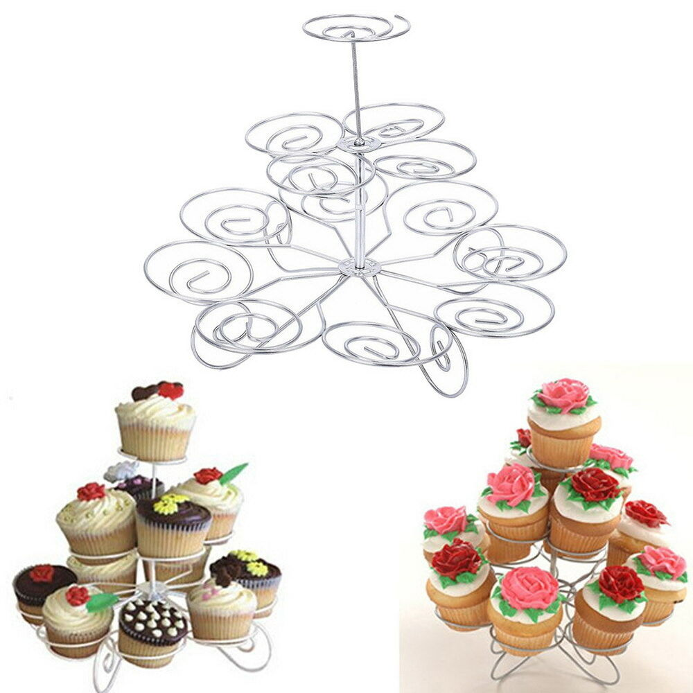 Wedding Cupcake Stands: 3 Tier 13 Cupcake Metal Stand Holder Tower Wedding Party
