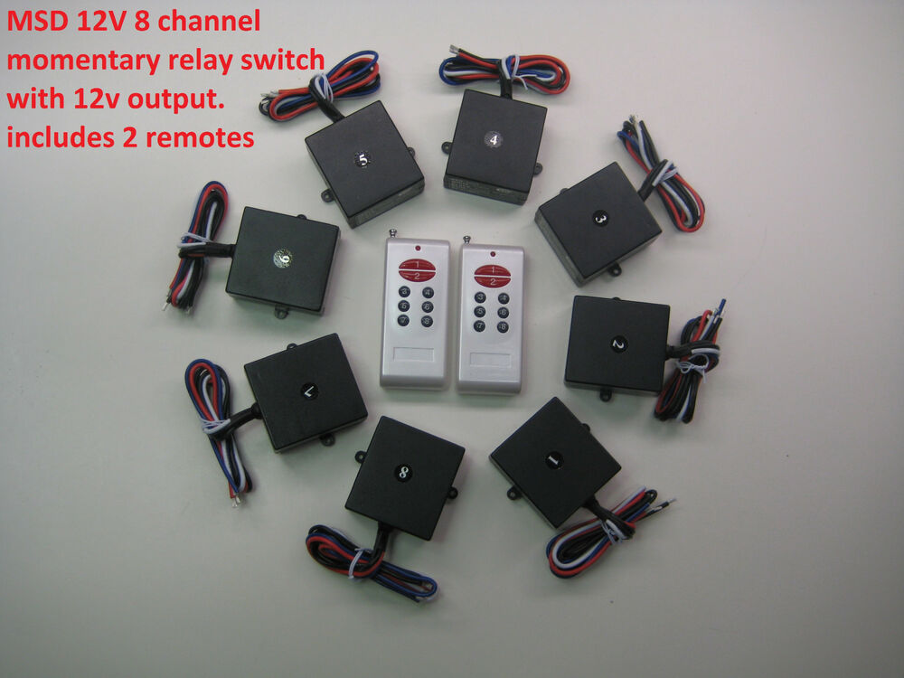 msd 12v 8 channels momentary on relay switch with 2 long. Black Bedroom Furniture Sets. Home Design Ideas
