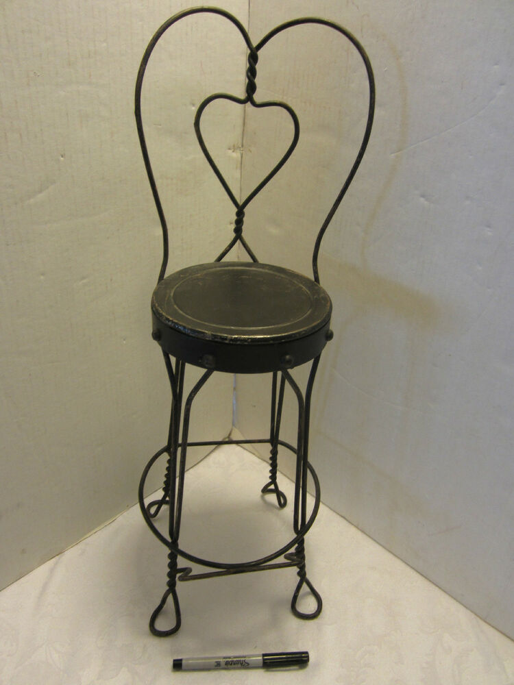 Victorian Wire Child Ice Cream Stool Parlor Soda Fountain