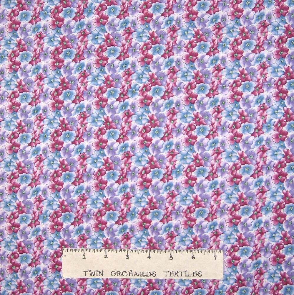 Calico fabric galaxy coll fairy blooming purple blue for Pastel galaxy fabric
