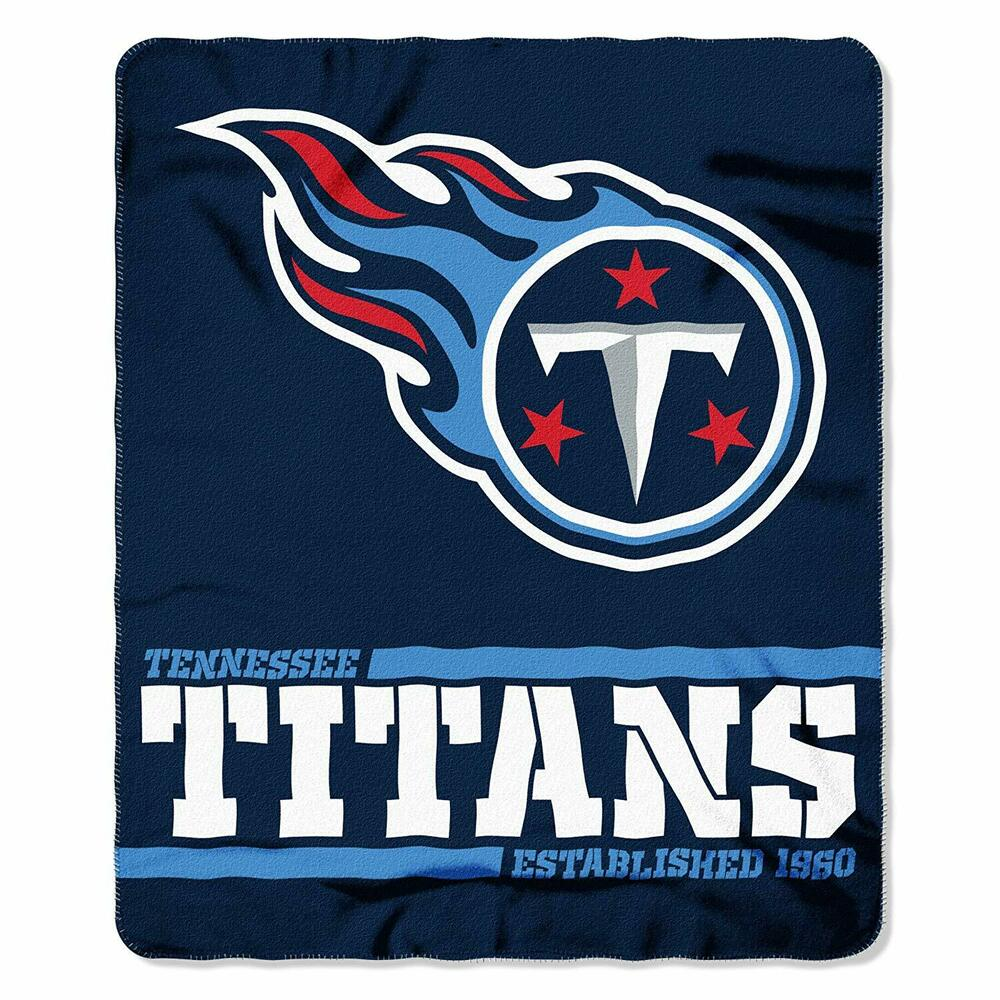 0bcc6810 Details about New Northwest NFL Tennessee Titans Large Soft Fleece Throw  Blanket 50