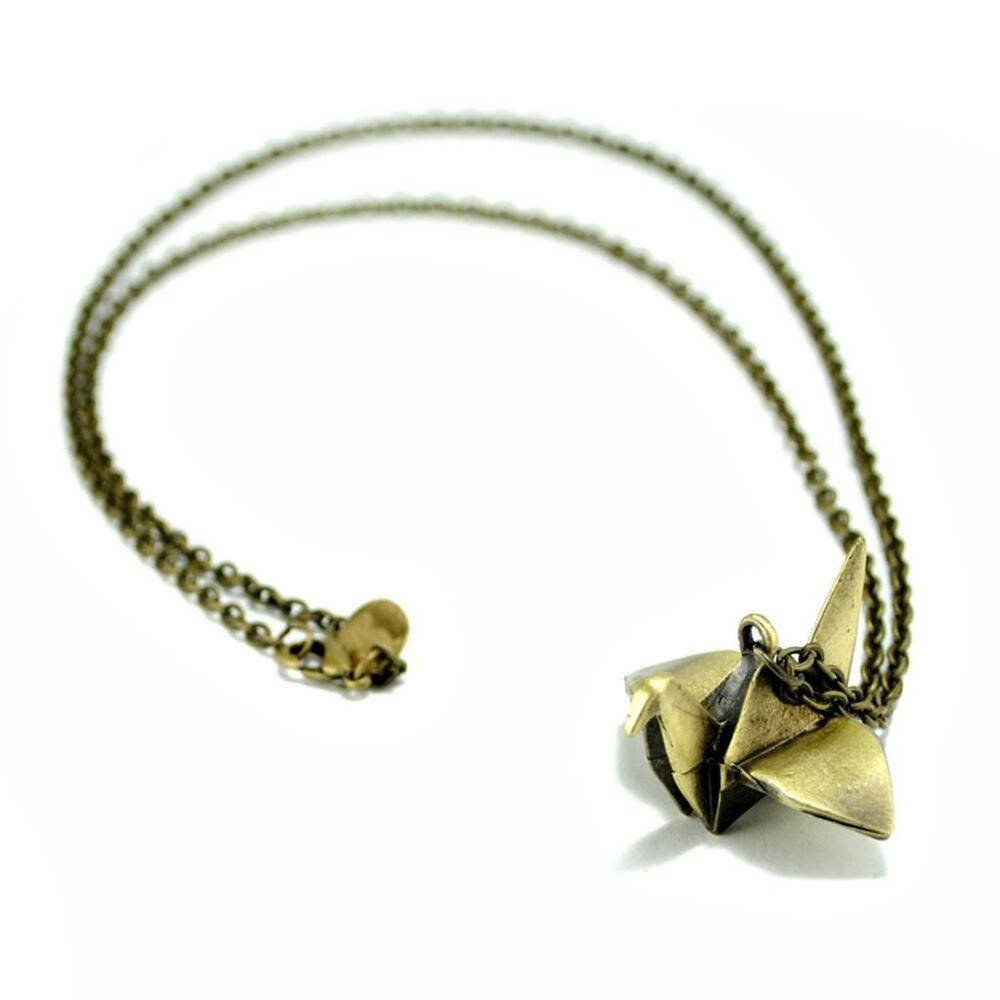 Origami Crane Necklace Japanese Symbol Of Hope And Healing