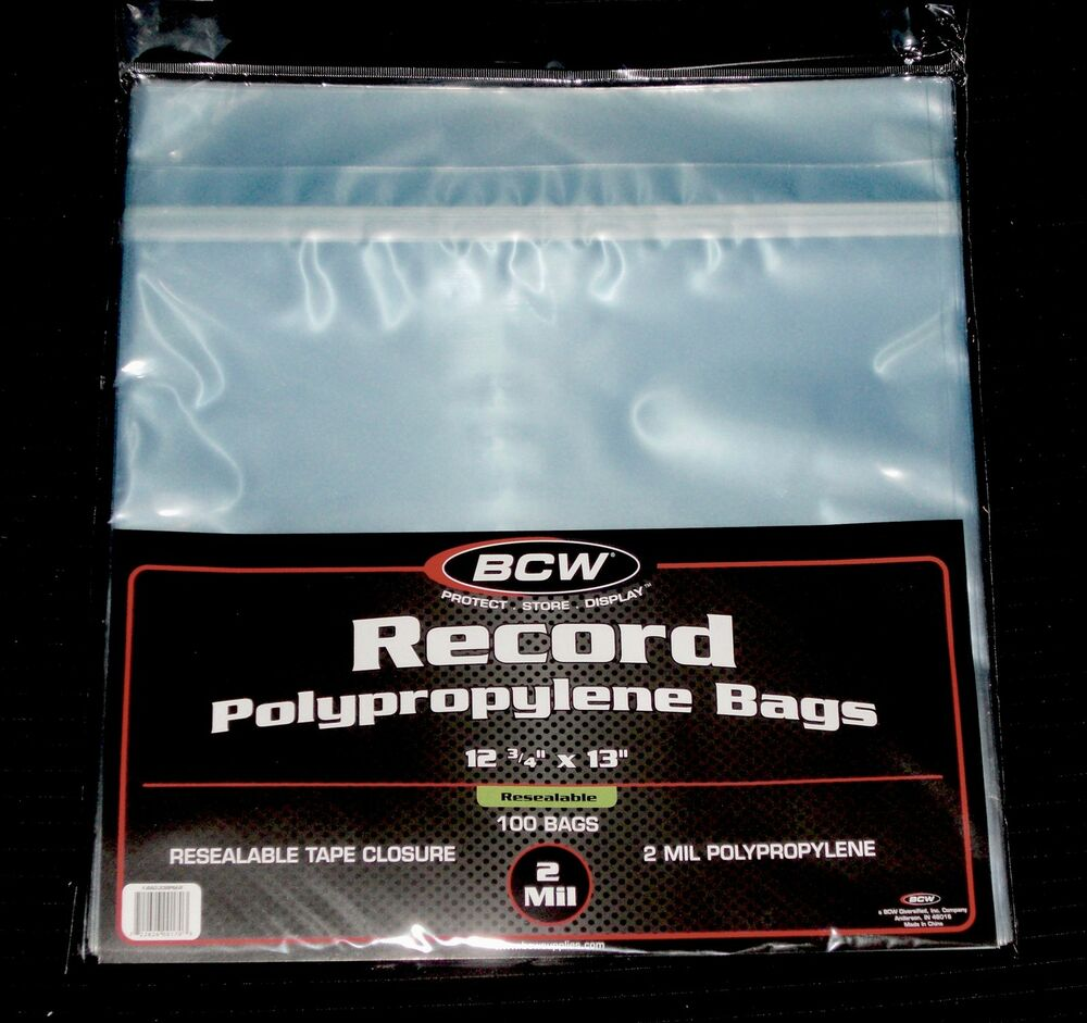 500 Resealable Lp Outer Sleeves High Quality Clear 12