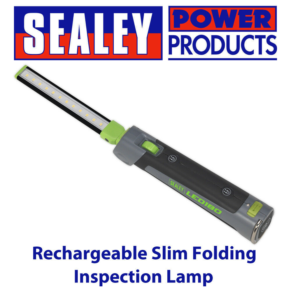 Sealey Led180 Rechargeable Slim Folding Inspection Lamp 12