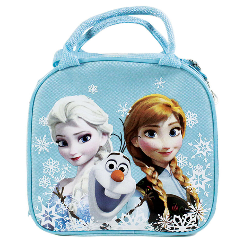 New Disney Frozen Elsa Anna Light Blue School Lunch Box