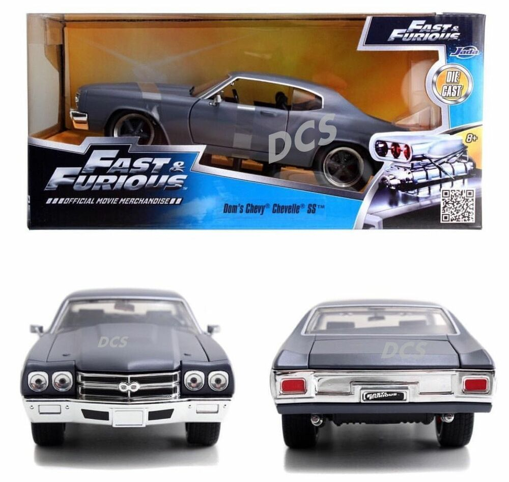 JADA FAST AND FURIOUS DOM'S CHEVY CHEVELLE SS GREY 1/24