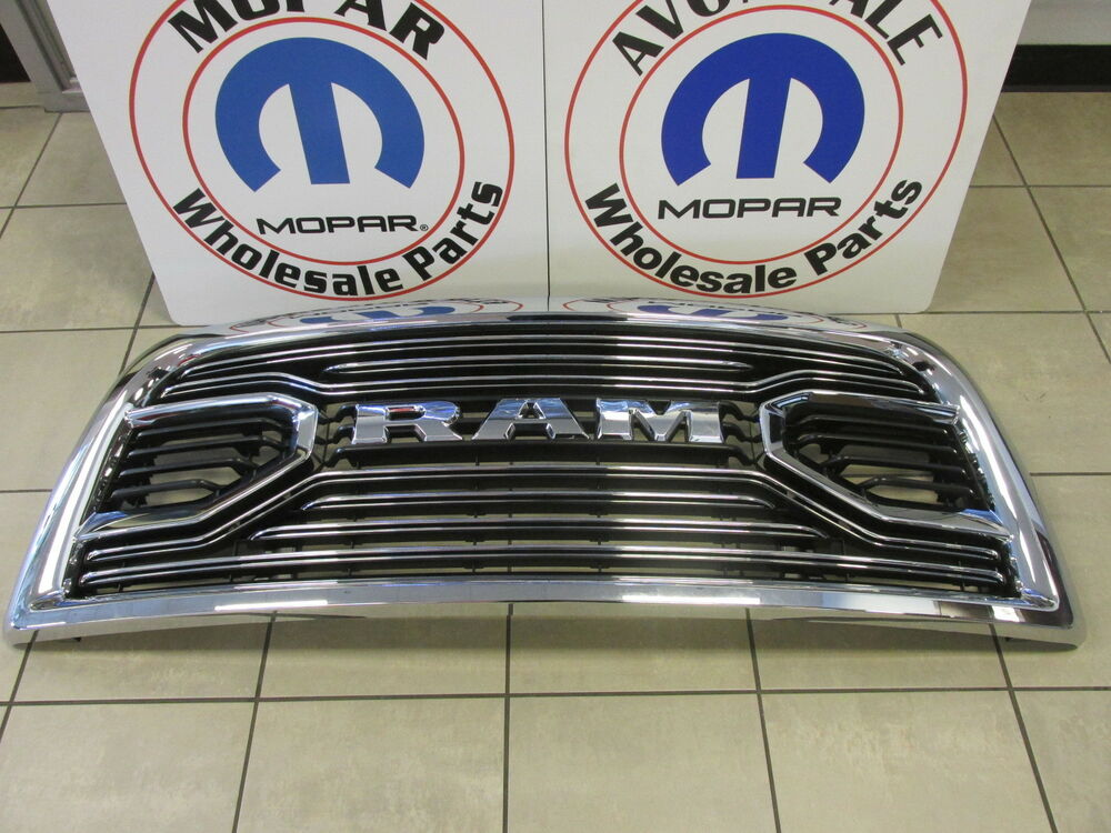 Ram 1500 Accessories >> DODGE RAM LIMITED Chrome Ram Radiator Grille NEW OEM MOPAR | eBay