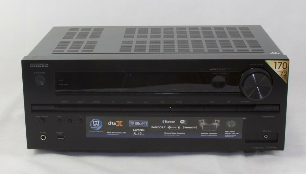 Power Amplifier For Dolby Atmos : onkyo tx nr646 7 2 channel home theater 3d dolby atmos receiver amplifier used 751398012228 ebay ~ Russianpoet.info Haus und Dekorationen