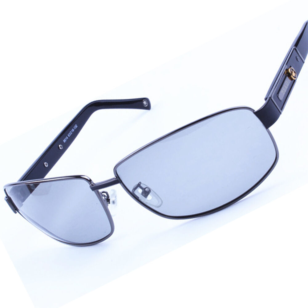 Men Transition Photochromic Polarized Lenses Full-rim