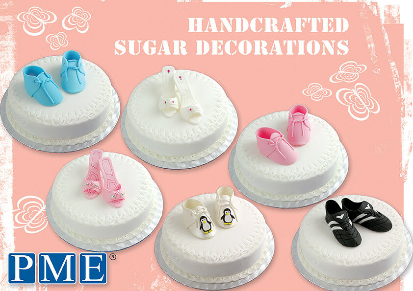 Pme cake handcrafted edible shoe sugar sugarcraft for How to make edible cake decorations at home