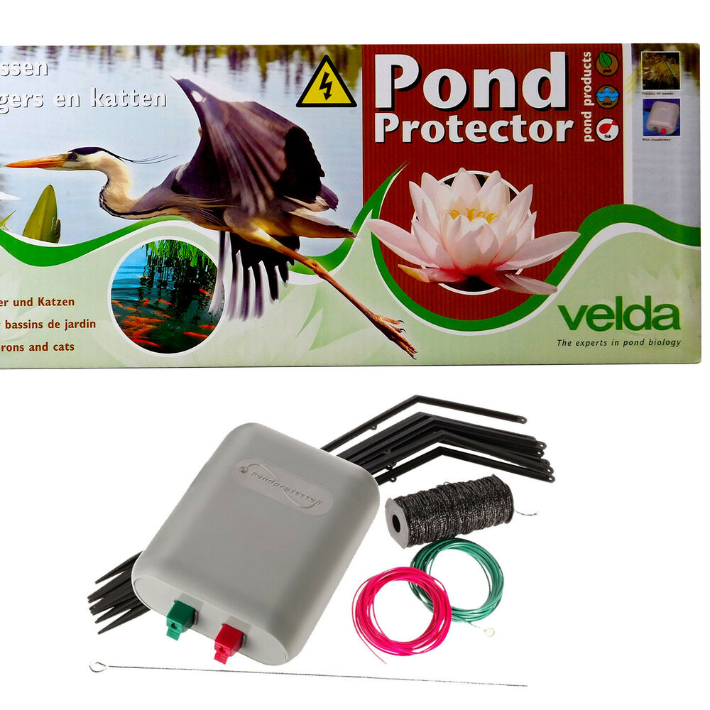 Velda garden pond protector electric fence kit stops for Koi pond maine coon cattery