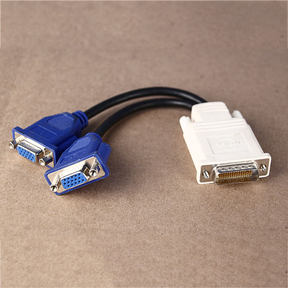 Hp Dell Dms 59 Vga 1ft Dual Monitor Splitter Y Cable Cord