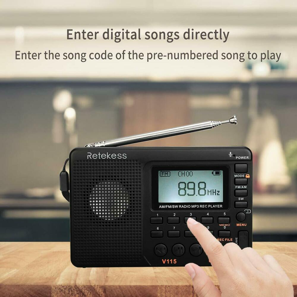 portable fm am sw world band radio mp3 wma player rec recorder us stock ebay. Black Bedroom Furniture Sets. Home Design Ideas