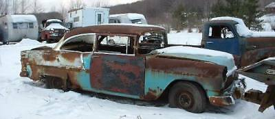 1955 Chevy Chevrolet Bel Air 2dr sd rat hot rod project