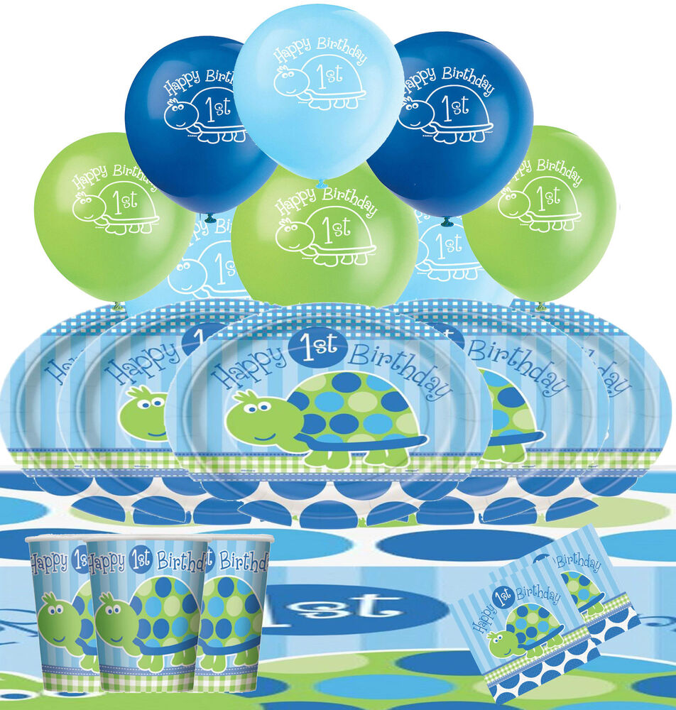 1st birthday turtle party pack kit tableware decorations for 1st birthday decoration packs