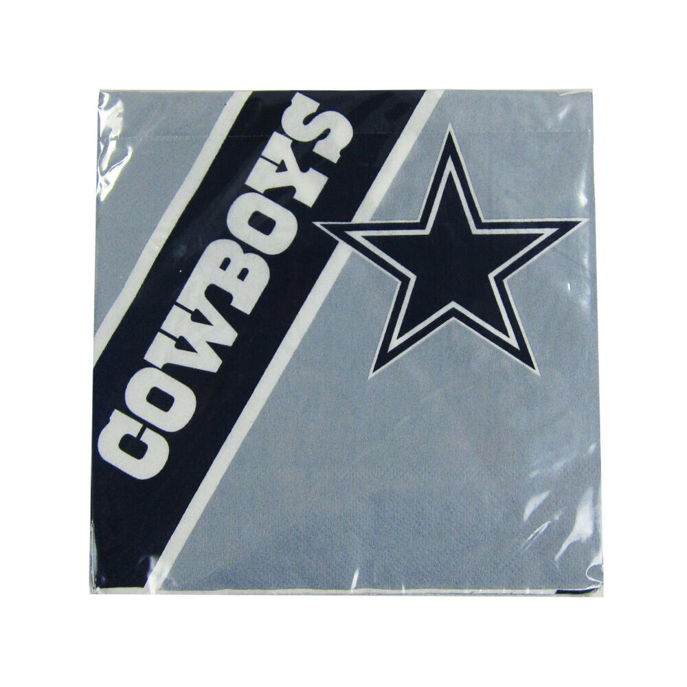 New Nfl Dallas Cowboys 20pcs Dinners Napkins Partyware