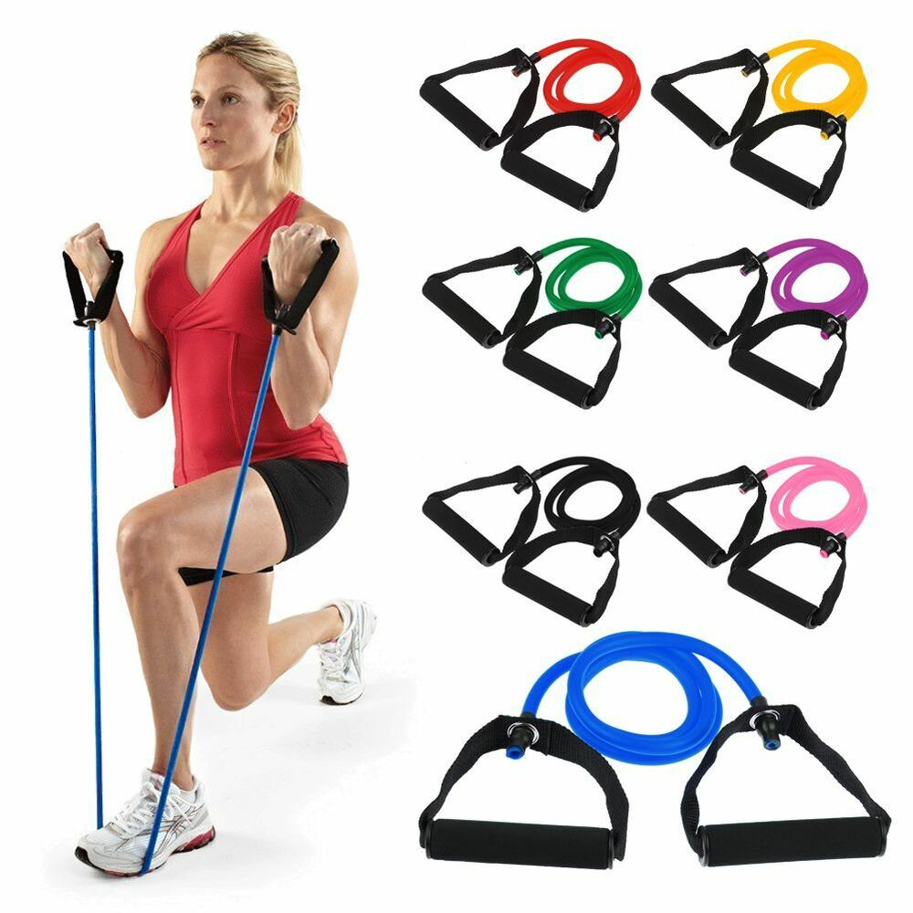 Workout Bands Com: Exercise Resistance Band Elastic Pilates Latex Tube For