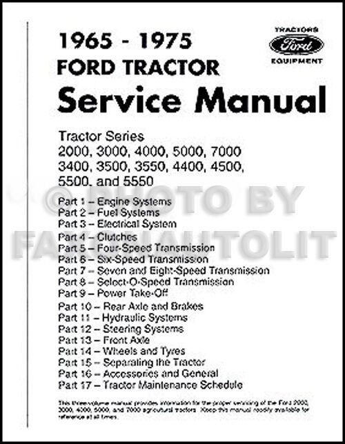 Ford    Tractor    Repair Shop Manual    2000    3000 3400 3500 4000