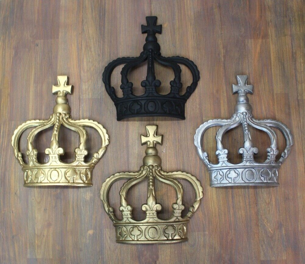 Prince Crown Wall Decoration : King crown or queen prince wall art princess metal england