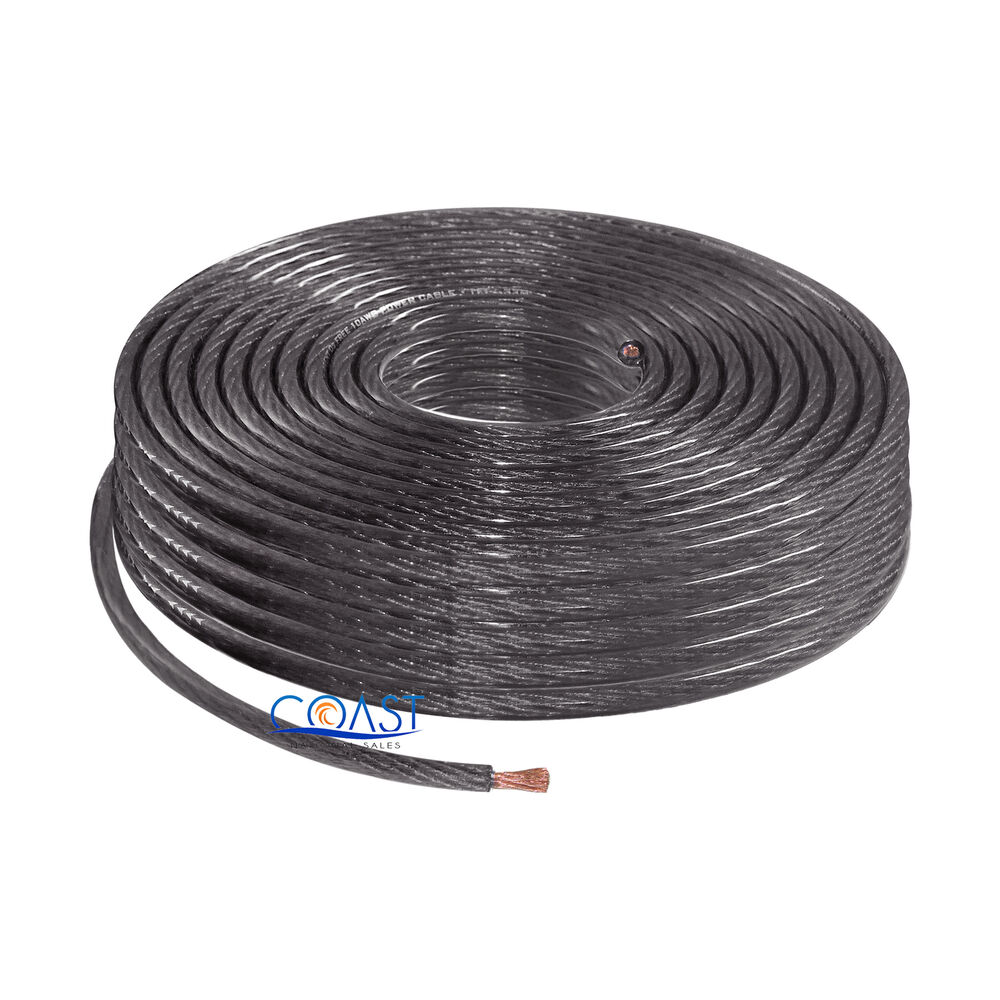 12 Copper Ground Wire : Ofc full copper stranded gauge awg black power ground