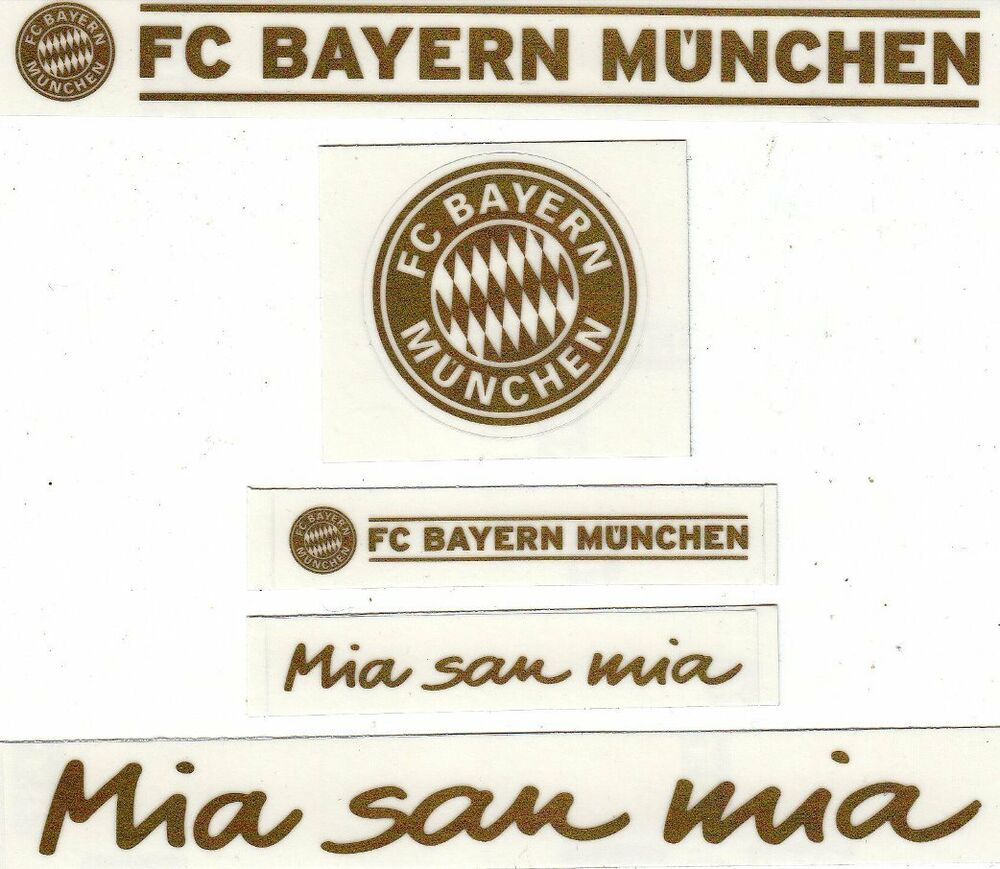 5 aufkleber auto fc bayern m nchen gold neu waschanlagensicher 1 ebay. Black Bedroom Furniture Sets. Home Design Ideas