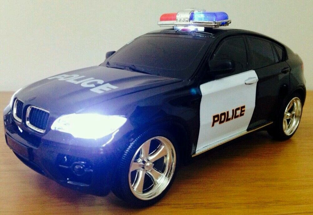 bmw x6 police rechargeable radio remote control car siren. Black Bedroom Furniture Sets. Home Design Ideas