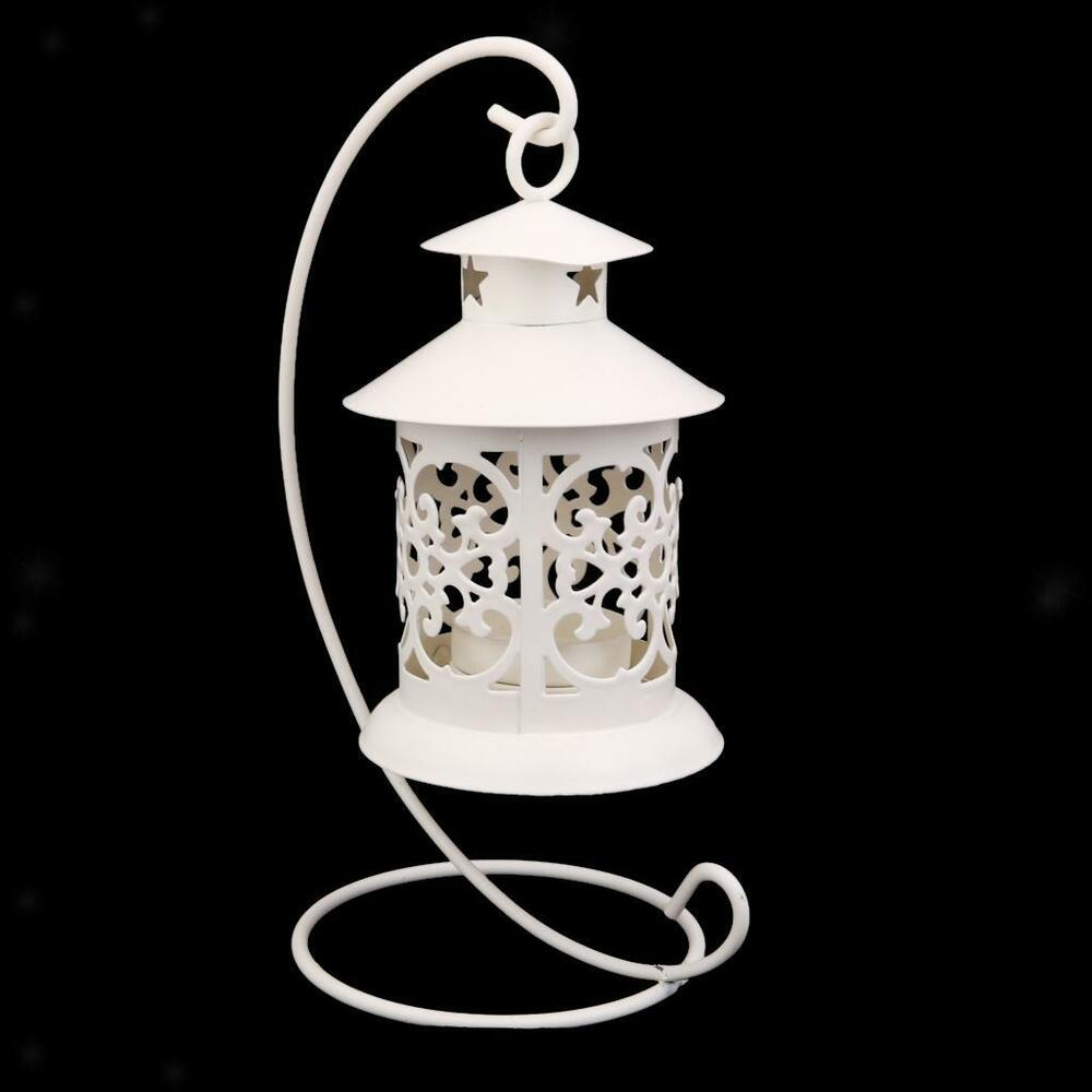 Moroccan style hanging stand candle holder lantern for Diy hanging tea light candle holders