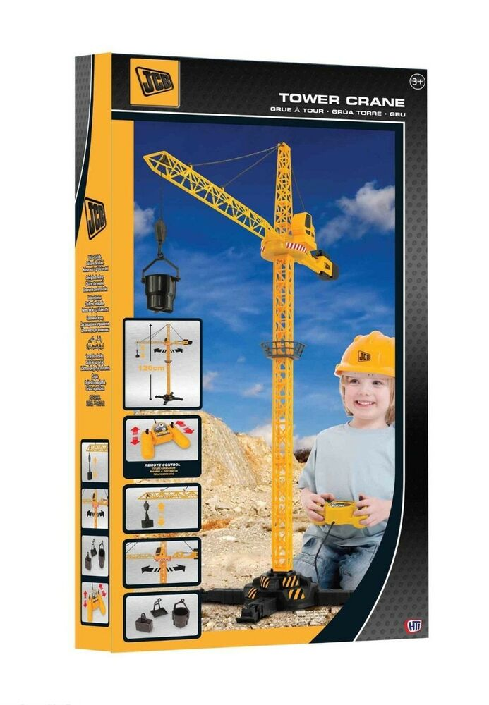 Large Construction Toys For Boys : Jcb rc remote control tower crane boys construction toy