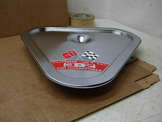 Real Gm 1967 1968 1969 Corvette Orig 3x2 Air Cleaner Lid