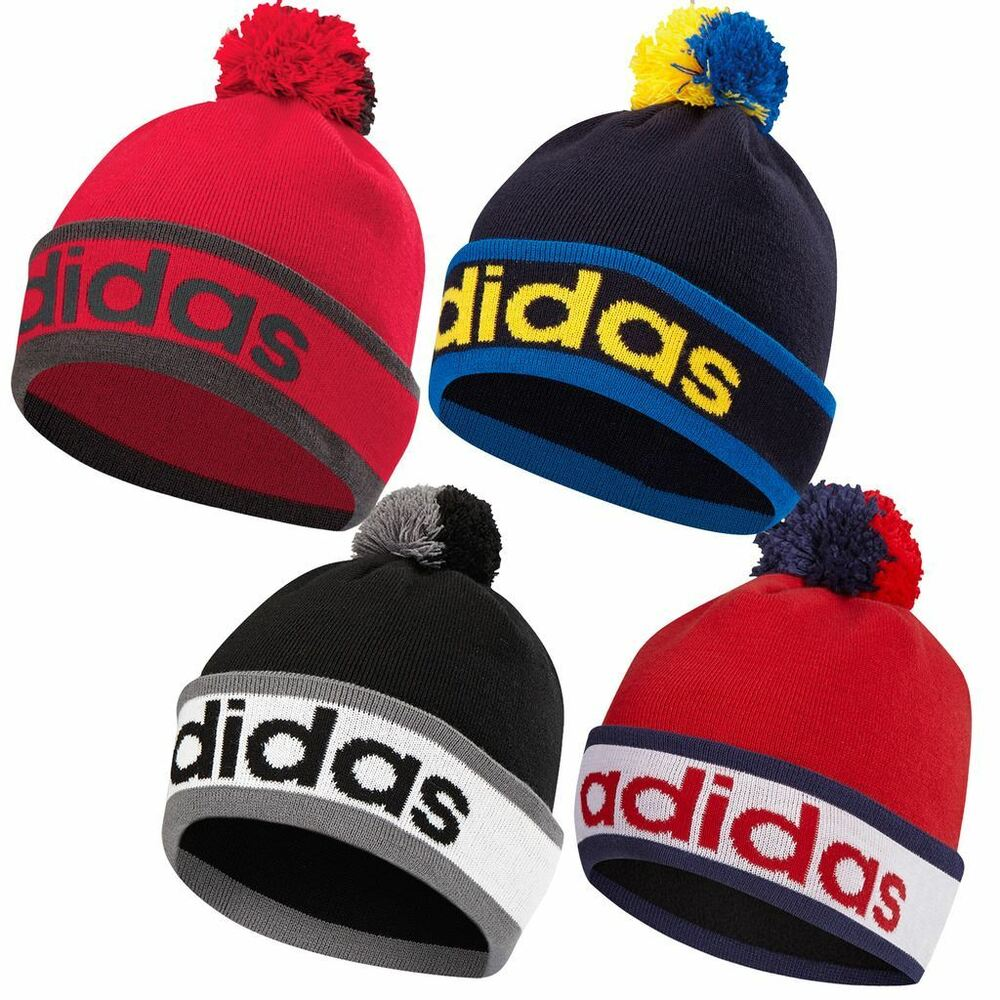 ded51dd6449 Details about Adidas 2017 ClimaHeat Pom Pom Beanie Mens Golf Winter Bobble  Hat