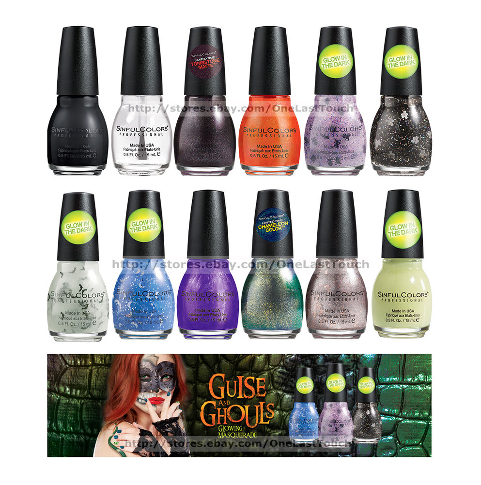 Walgreens Halloween Nail Polish: SINFUL COLORS Nail Polish GUISE & GHOULS Limited Edition