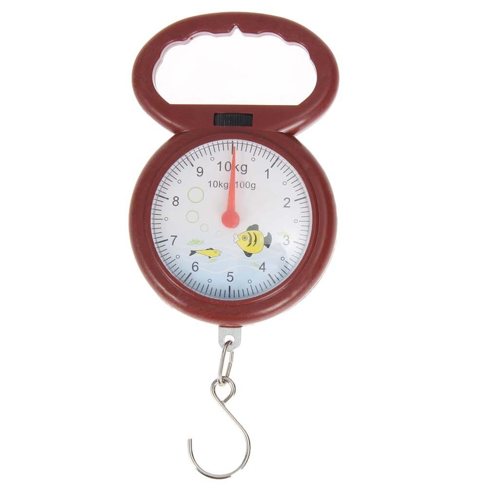 Fish shape 10kg weighing spring balance handheld numeral for Fish weight scale