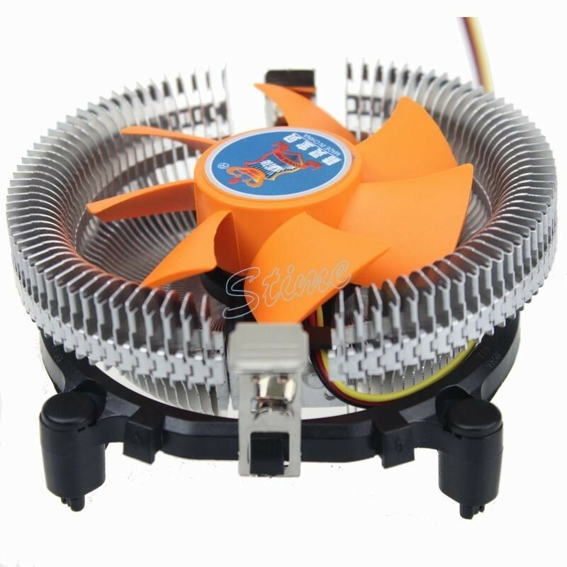 Processor Cooling Fan : Orange computer cpu cooling fan heatsink for lga amd
