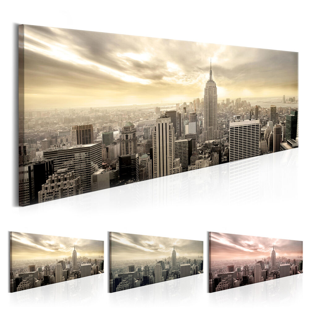 leinwand bilder xxl fertig aufgespannt bild new york stadt d b 0081 b b ebay. Black Bedroom Furniture Sets. Home Design Ideas