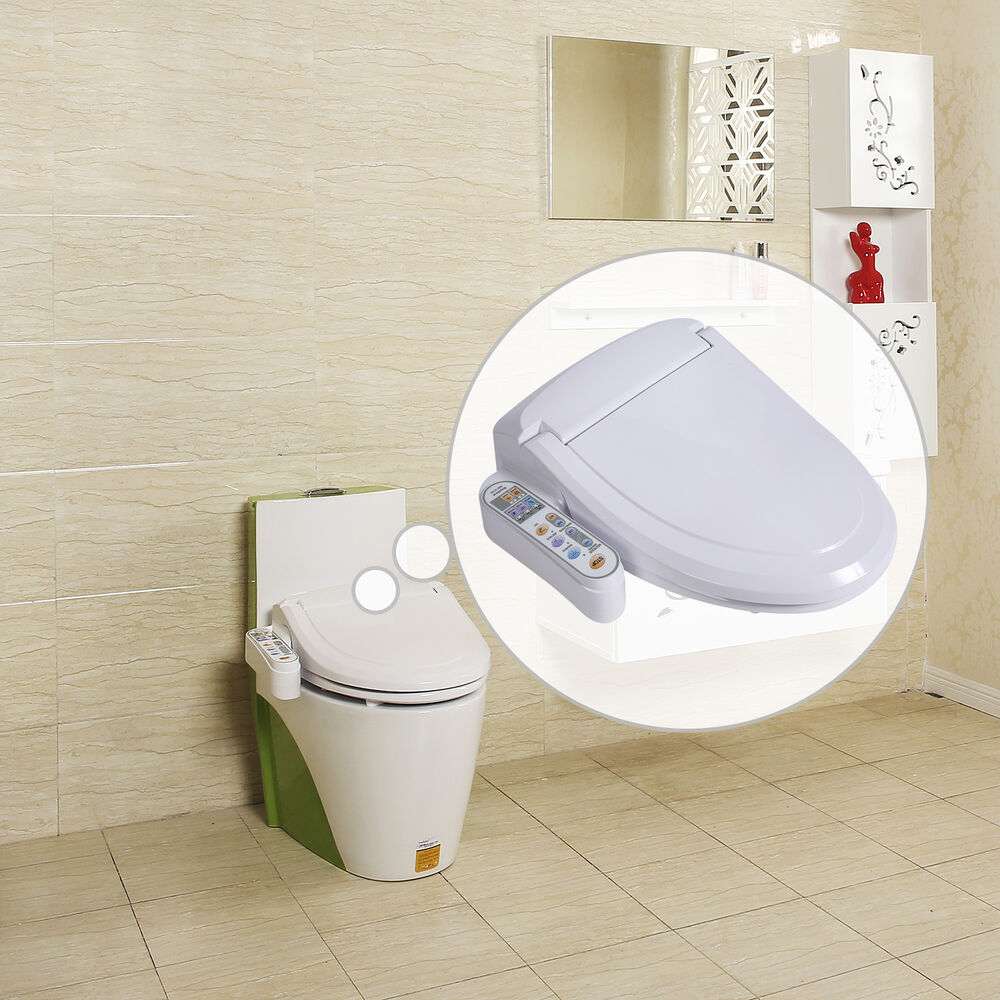 smart bidet intelligent toilet seat electric heated water warm elongated white ebay