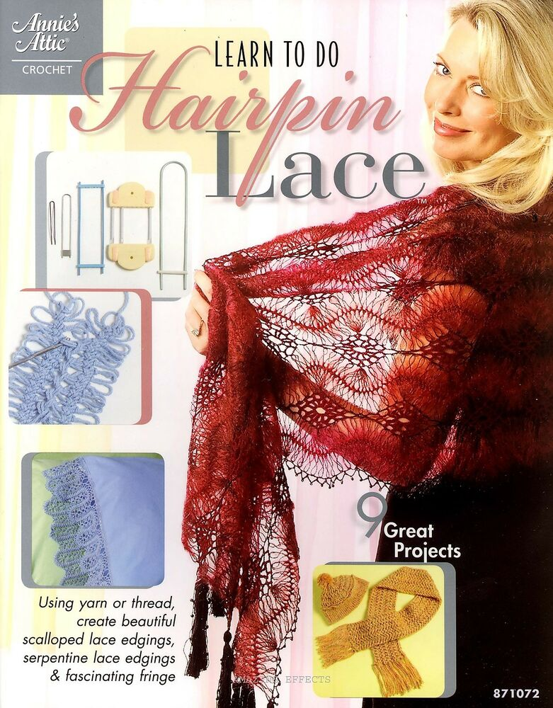 Learn To Do Hairpin Lace Book Crochet Patterns Edgings