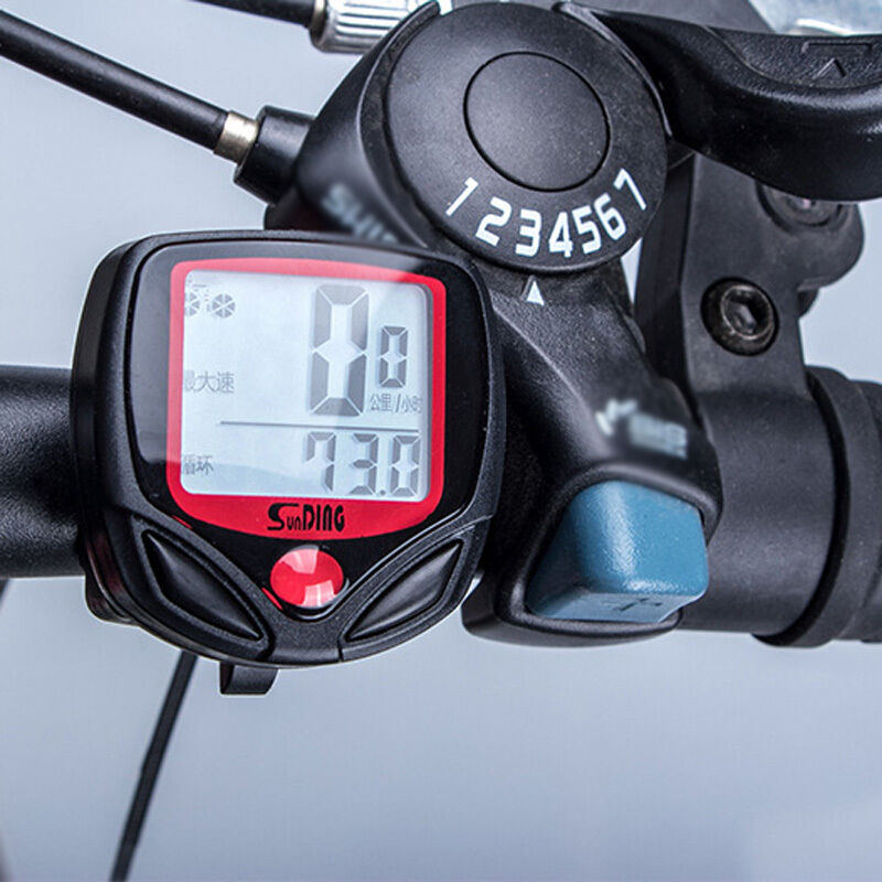 neu fahrradcomputer fahrradtacho tachometer rad bike. Black Bedroom Furniture Sets. Home Design Ideas