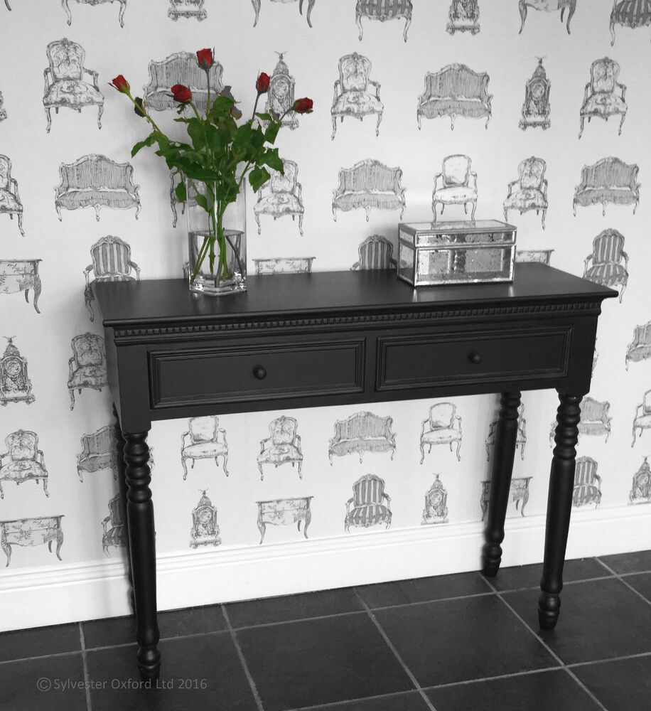 black belgravia style console table hall table shabby. Black Bedroom Furniture Sets. Home Design Ideas