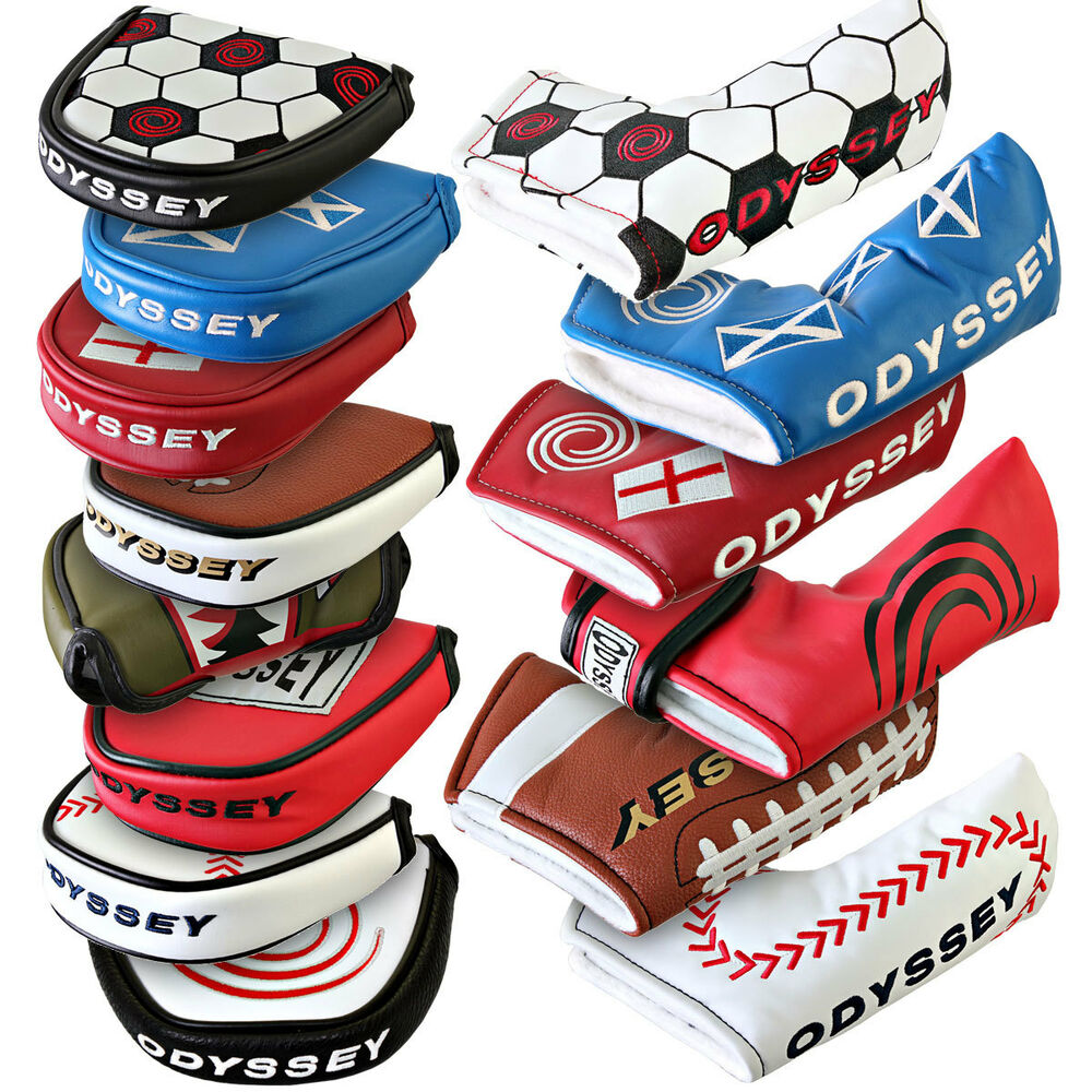 odyssey golf 2016 putter headcovers various styles colours blades mallets ebay. Black Bedroom Furniture Sets. Home Design Ideas