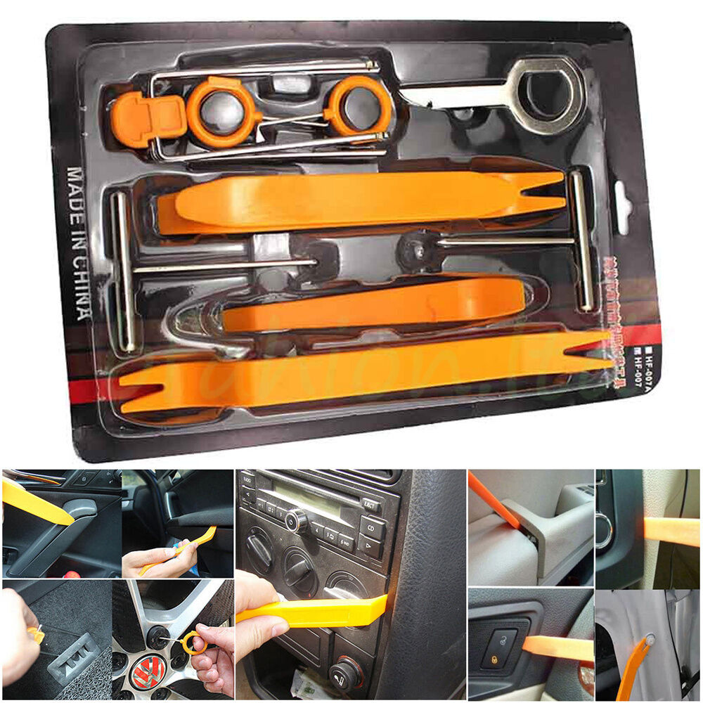 12pcs car interior panel trim open pry remove tool radio gps removal release key ebay. Black Bedroom Furniture Sets. Home Design Ideas