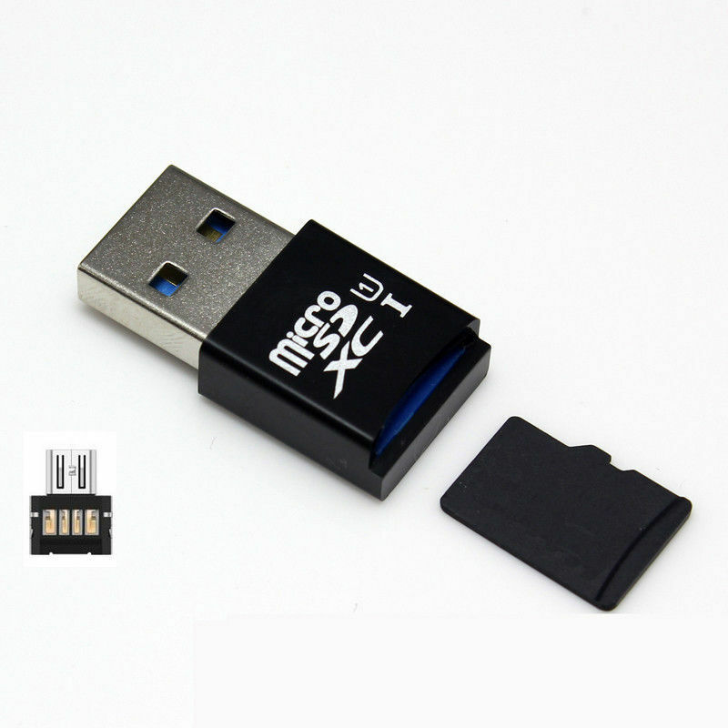 mini 5gbps super speed usb 3 0 micro sd sdxc tf card reader adapter ebay. Black Bedroom Furniture Sets. Home Design Ideas