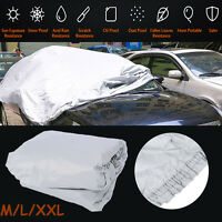 M / L / XXL Size Universal UV Waterproof Outdoor Full Car Auto Cover Silver